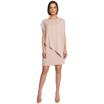 textil Mujer Vestidos cortos Style S262 Vestido a capas - beige