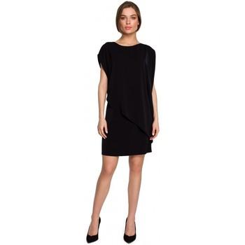 textil Mujer Vestidos cortos Style S262 Vestido a capas - negro