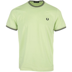 textil Hombre Camisetas manga corta Fred Perry Twin Tipped T-Shirt Verde