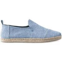 Zapatos Hombre Alpargatas Toms Deconstructed Alpargatas Blue Slub Chambray Azul