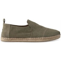 Zapatos Hombre Alpargatas Toms Deconstructed Rope Olive Washed Canvas Verde