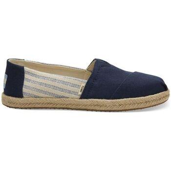 Zapatos Hombre Alpargatas Toms Classic Navy Ivy League Stripes Azul