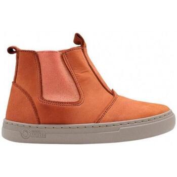 Zapatos Niños Deportivas Moda Natural World Ada 6982 Naranja
