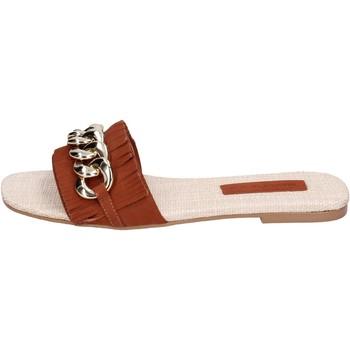 Zapatos Mujer Zuecos (Mules) Miss Unique BH145 Marrón