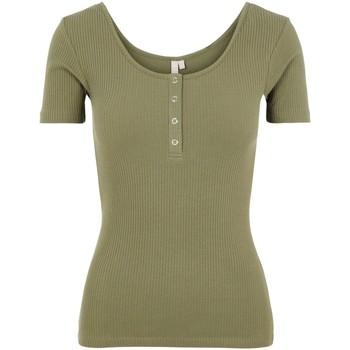textil Mujer Camisetas manga corta Pieces 17101439 Verde