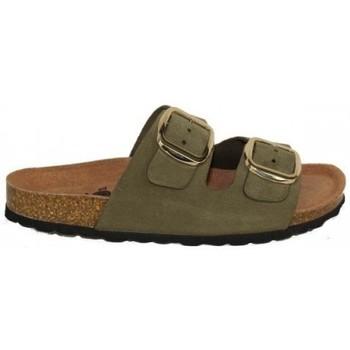Zapatos Mujer Zuecos (Mules) Lolas SANDALIA CON PLANTA BIO PIEL ANTEADA Verde
