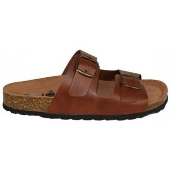 Zapatos Mujer Zuecos (Mules) Lolas SANDALIA CON 2 HEBILLAS Y PLANTA BIO CONFORT Multicolor