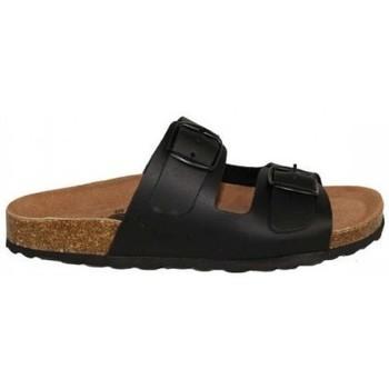 Zapatos Mujer Zuecos (Mules) Lolas SANDALIA CON 2 HEBILLAS Y PLANTA BIO CONFORT Negro