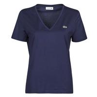 textil Mujer Camisetas manga corta Lacoste LOUIS Marino