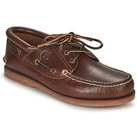 Zapatos Zapatos náuticos Timberland Classic Boat 3 Eye Padded Collar Marrón