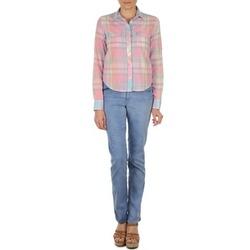 textil Mujer Vaqueros rectos Gant DANA SPRAY COLORED DENIM PANTS Azul