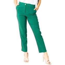 textil Mujer Pantalones chinos Sandro Ferrone S15XBAALAN Verde