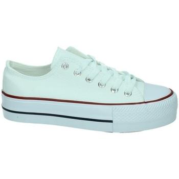 Zapatos Mujer Zapatillas bajas Demax Zapatilla plataforma BLANCO