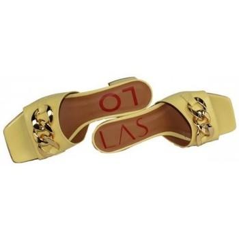 Zapatos Mujer Zuecos (Mules) Lolas MULE CON CADENA MODELO OXIDO DE Amarillo