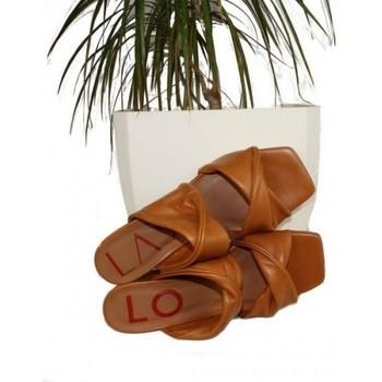 Zapatos Mujer Zuecos (Mules) Lolas SANDALIA CON TIRAS TUBULARES MODELO NICE Multicolor