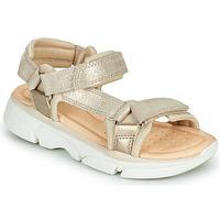 Zapatos Niña Sandalias Geox J SANDAL LUNARE GIRL Beige
