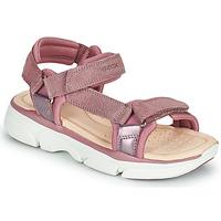 Zapatos Niña Sandalias Geox J SANDAL LUNARE GIRL Rosa