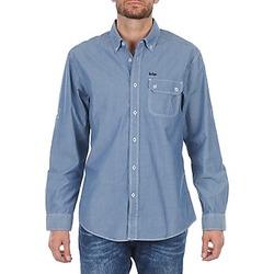 textil Hombre camisas manga larga Lee Cooper Greyven Azul