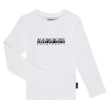 textil Niño Camisetas manga larga Napapijri S-BOX LS Blanco