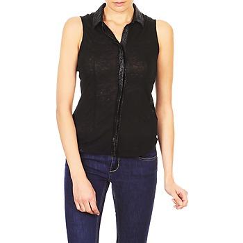 textil Mujer camisas manga corta Majestic ZOE Negro