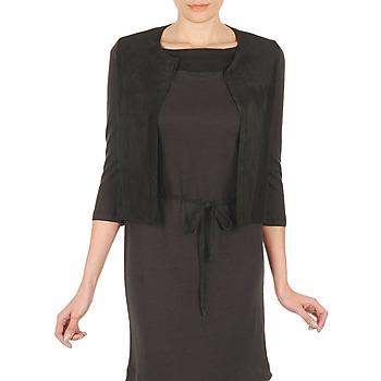 textil Mujer Chaquetas de punto Majestic BERENICE Negro