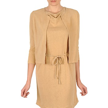 textil Mujer Chaquetas de punto Majestic BERENICE Beige