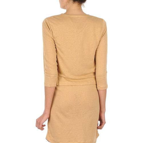 Mujer Chaquetas Majestic Berenice Beige De Punto Textil n8wX0NOkP