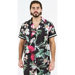 textil Hombre Camisas manga corta Sixth June Chemise  tropical noir