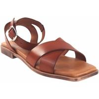 Zapatos Mujer Sandalias Eva Frutos Sandalia señora  c11 cuero Marrón