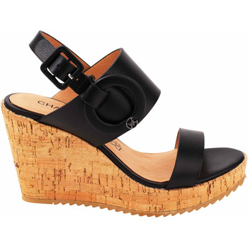 Zapatos Mujer Sandalias Chattawak compensées Claudia noir Negro