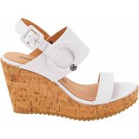 Zapatos Mujer Sandalias Chattawak compensées Claudia blanche Blanco