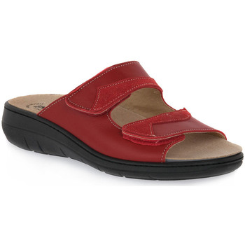 Zapatos Mujer Zuecos (Mules) Emanuela 1242 ROSSO Rosso