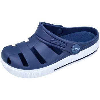 Zapatos Niño Zuecos (Clogs) IGOR OLA AZUL