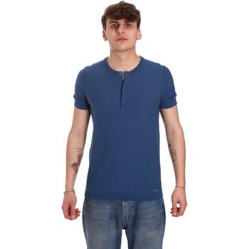 textil Hombre Camisetas manga corta Gaudi 011BU53007 Azul