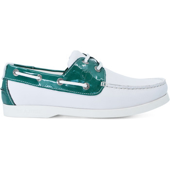 Zapatos Mujer Zapatos náuticos Seajure Náuticos Gidaki Verde y blanco