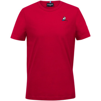 textil Niño Camisetas manga corta Le Coq Sportif Essentiels Tee SS N°2 Kids Rojo