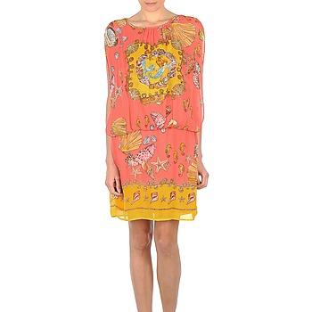 textil Mujer vestidos cortos Derhy ACCORDABLE Rosa / Amarillo