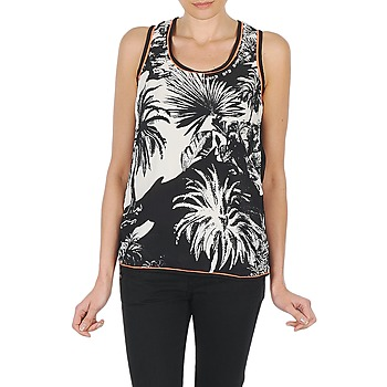 textil Mujer camisetas sin mangas Derhy EDEN Negro / Blanco