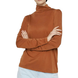 textil Mujer Camisetas manga larga Pieces  Marrón