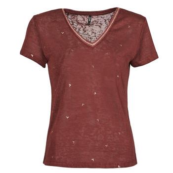 textil Mujer Camisetas manga corta Only ONLSTEPHANIA Burdeo