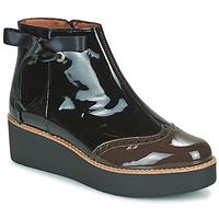 Zapatos Mujer Botas de caña baja Fericelli JANDICI Negro / Marrón