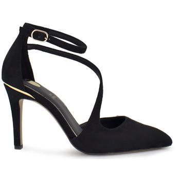 Zapatos Mujer Zapatos de tacón Exé Shoes ZAPATOS TACON ANTE TIRA CRUZADA BONITA-622
