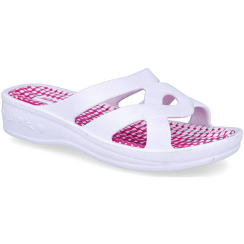 Zapatos Mujer Zuecos (Mules) L&R Shoes SD2628 BLANCO