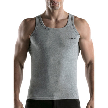 textil Hombre Camisetas sin mangas Code 22 Código Básico22 Tank Top Gris Claro