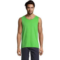 textil Hombre Camisetas sin mangas Sols Justin camiseta sin mangas Verde