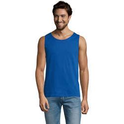 textil Hombre Camisetas sin mangas Sols Justin camiseta sin mangas Azul