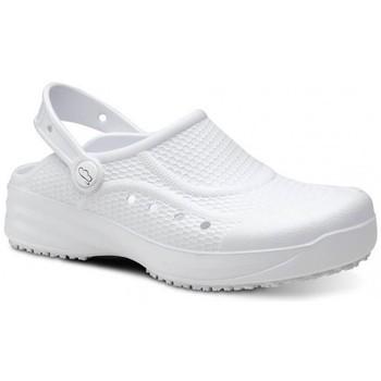 Zapatos Hombre Zuecos (Clogs) Feliz Caminar Zueco Laboral Flotantes Evolution - Blanco