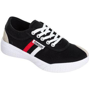 Zapatos Zapatillas bajas Kawasaki Leap retro canvas shoe - black Negro