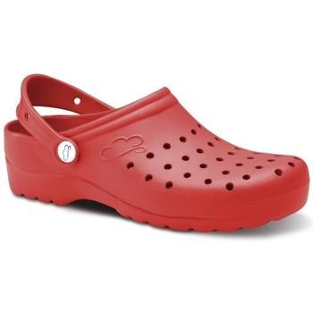 Zapatos Hombre Zuecos (Clogs) Feliz Caminar Zuecos Sanitarios Flotantes Gruyere - Rojo