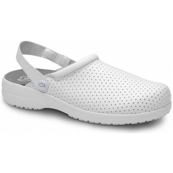 Zapatos Hombre Zuecos (Clogs) Feliz Caminar ZETA BLANCO - Blanco